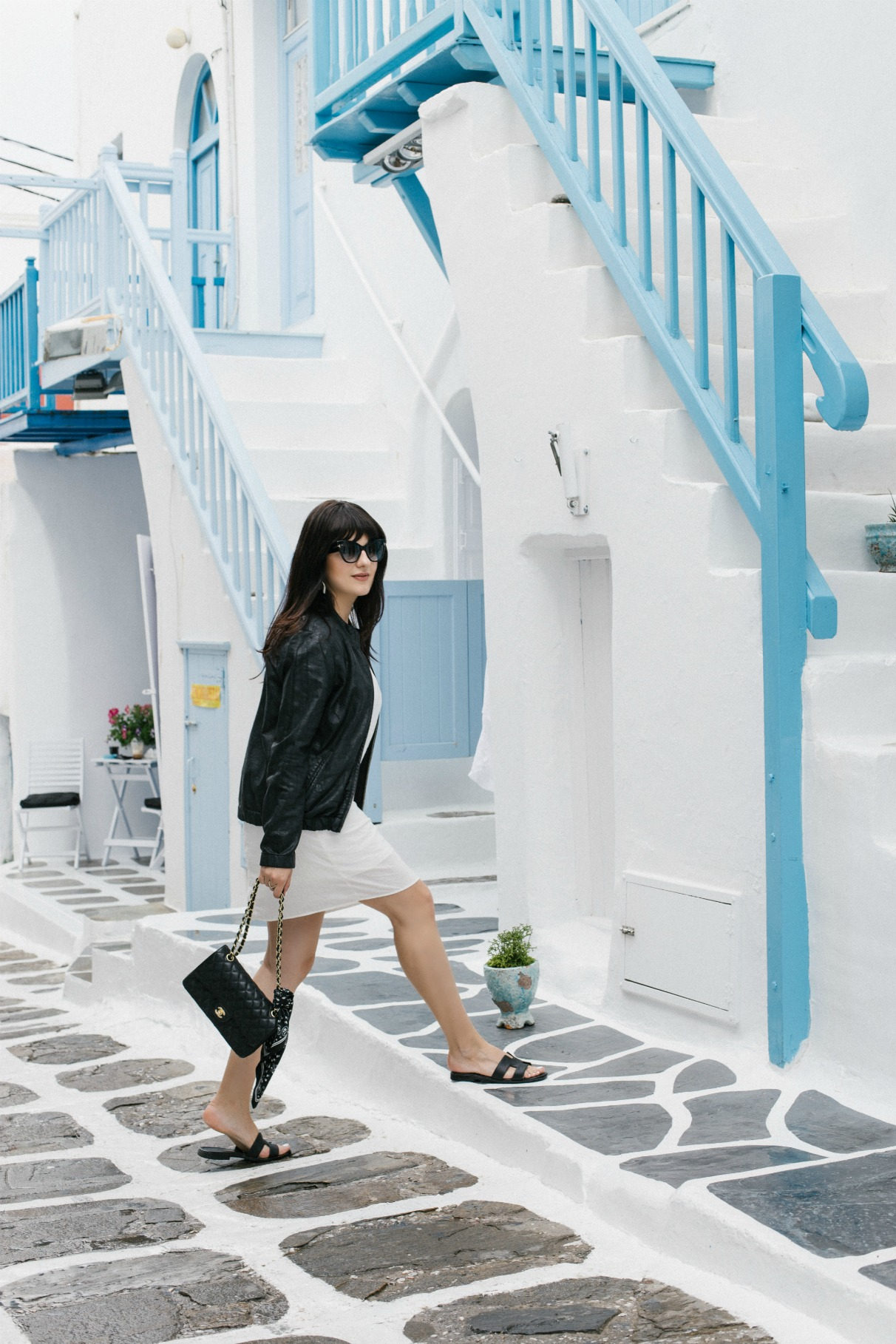 manila-grace-black-white-dress-bomber-jacket-mykonos-town-2016-disi-couture-01