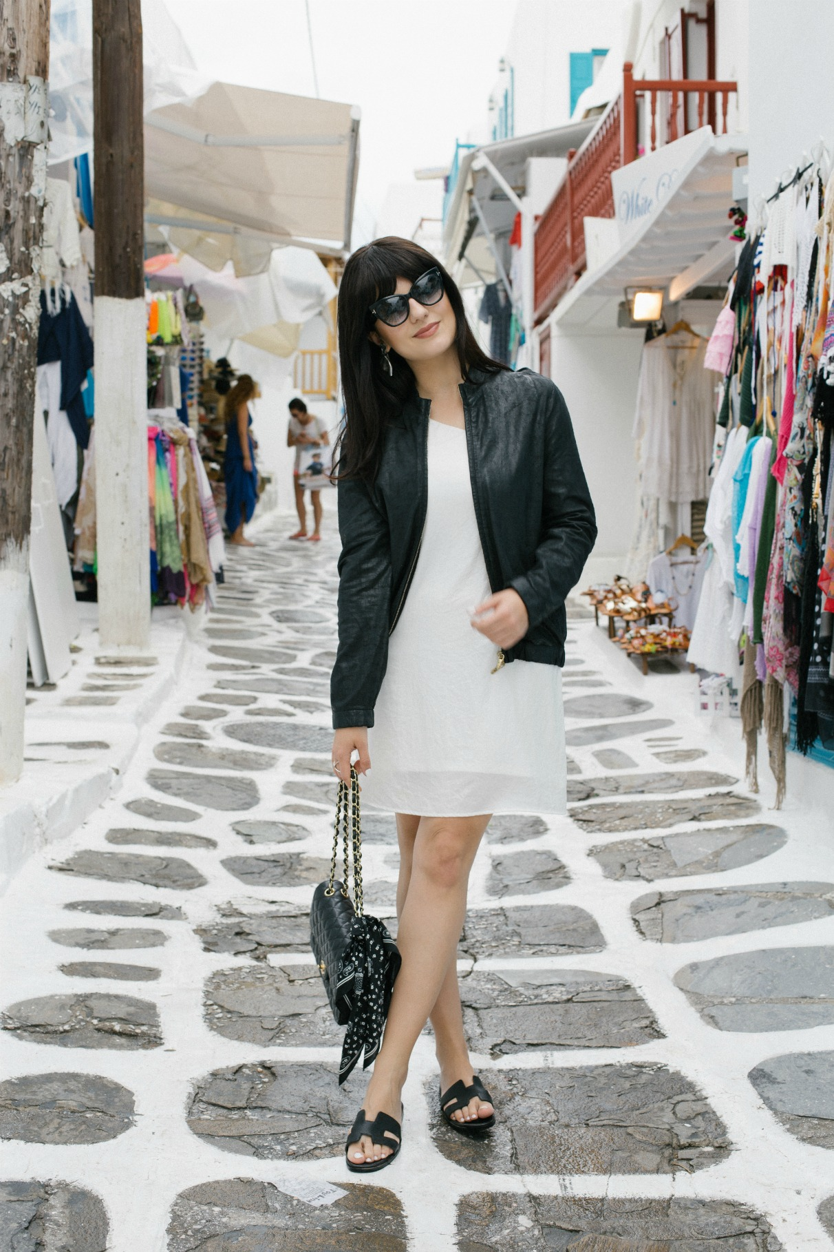 manila-grace-black-white-dress-bomber-jacket-mykonos-town-2016-disi-couture-03